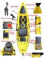 Nova Mirage Outback 3.3 pedálhajtás előkészített pergetős horgászkajak